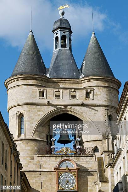 la grosse cloche gate,bordeaux, gironde,aquitaine, france - bordeaux stockfoto's en -beelden