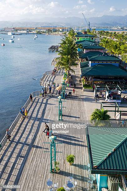 La Guancha Boardwalk along the water in Ponce, Puerto Rico