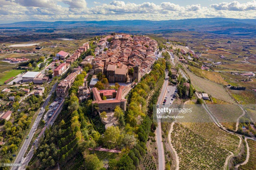 La Guardia en el Valle de Rioja : Foto de stock