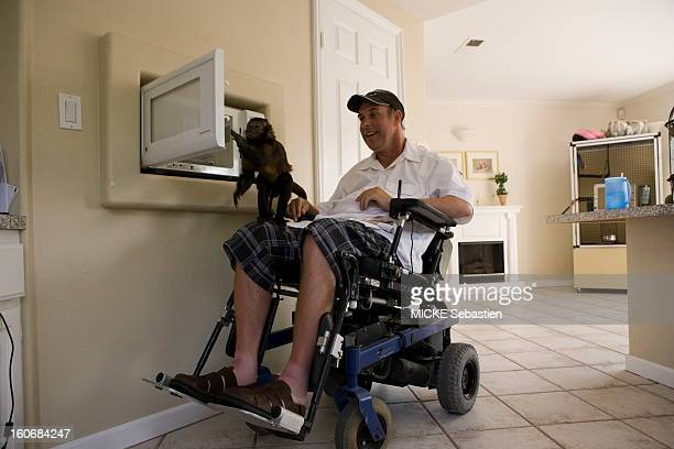 La Habra March 26 2010 quadriplegic since a car accident Craig Cook must rest entirely on the expertise of a little female Capuchin Minnie one of the...