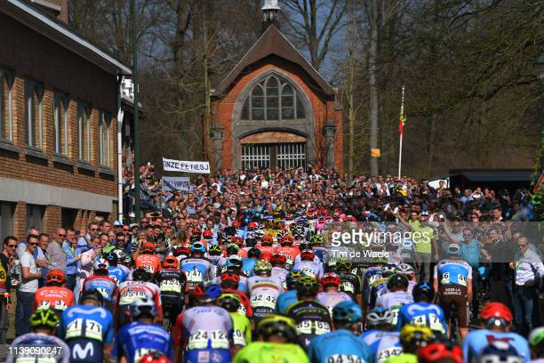 La Houppe / Chapel / Fans / Public / Peloton / during the 62nd E3 Harelbeke 2019 a 203,9km race from Harelbeke to Harelbeke / #E3BinckBankClassic /...