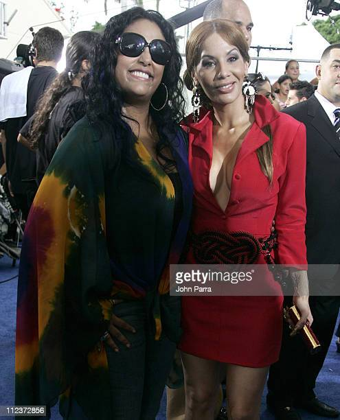 La India and Ivy Queen during 2006 Premios Juventud Awards Arrivals at University of Miami BankUnited Center in Miami Florida United States