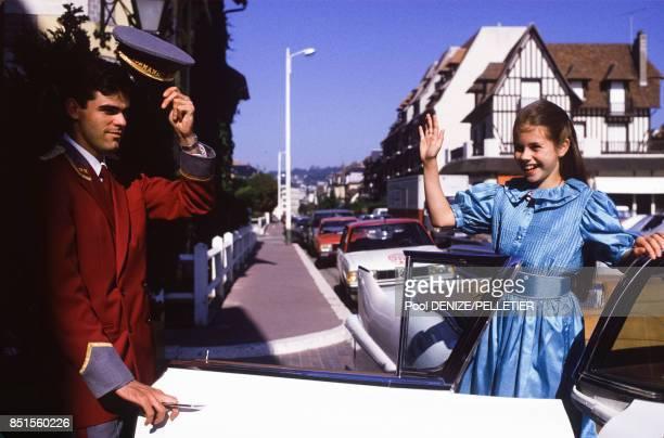 La jeune actrice Fairuza Balk en septembre 1985 lors du Festival de Deauville France