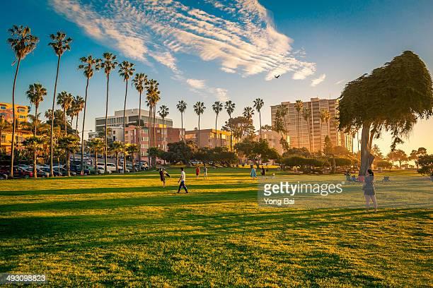 La jolla beach park sunset #6