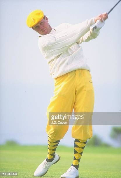La Jolla, Ca. Payne Stewart Finishes A Long Shot During The Buick Invitational At The Torrey Pines Golf Club In La Jolla, California.