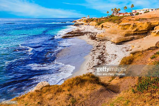 la jolla coastline in southern california,san diego (p) - california stockfoto's en -beelden