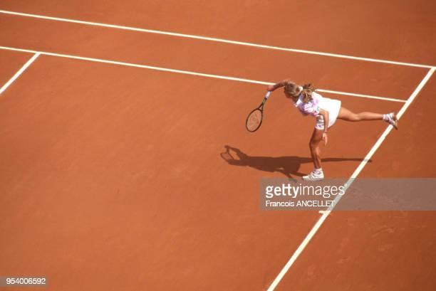 La joueuse de tennis américaine Steffi Graf pendant le tournoi de RolandGarros en 1991 à Paris France