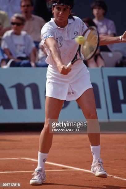 La joueuse de tennis argentine Gabriela Sabatini pendant le tournoi de RolandGarros en 1991 à Paris France