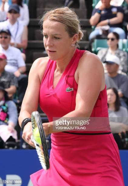 """La joueuse de tennis russe Anastasia Pavlyuchenkova lors de sa finale perdue au tournoi de tennis """"Toray Pan Pacific Open"""" le 22 septembre 2019 à..."""