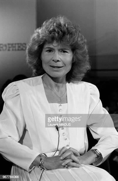 La journaliste Claude Sarraute le 24 mai 1985 à Paris France