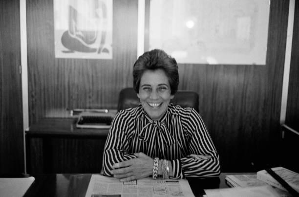 Françoise giroud dans son bureau pictures getty images