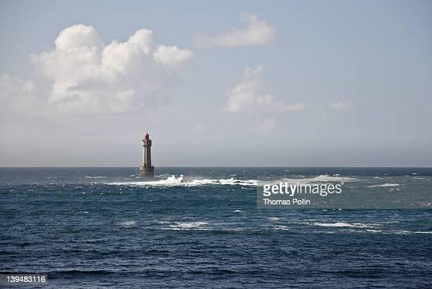 la jument lighthouse - la jument stock pictures, royalty-free photos & images
