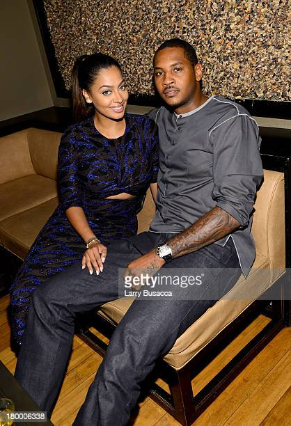 La La and Carmelo Anthony attend the Fox Searchlight TIFF Party during the 2013 Toronto International Film Festivalat Spice Route on September 7 2013...