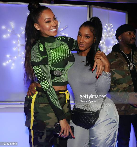 La La Anthony and Bernice Burgos attends 3rd Annual Winter Wonderland Holiday Charity Event Hosted By La La Anthony at Gauchos Gym on December 17...