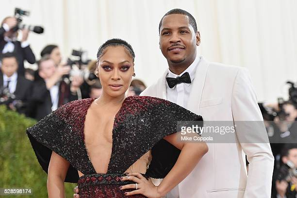 La La Anthony and Carmelo Anthony attend the 'Manus x Machina Fashion In An Age Of Technology' Costume Institute Gala at Metropolitan Museum of Art...