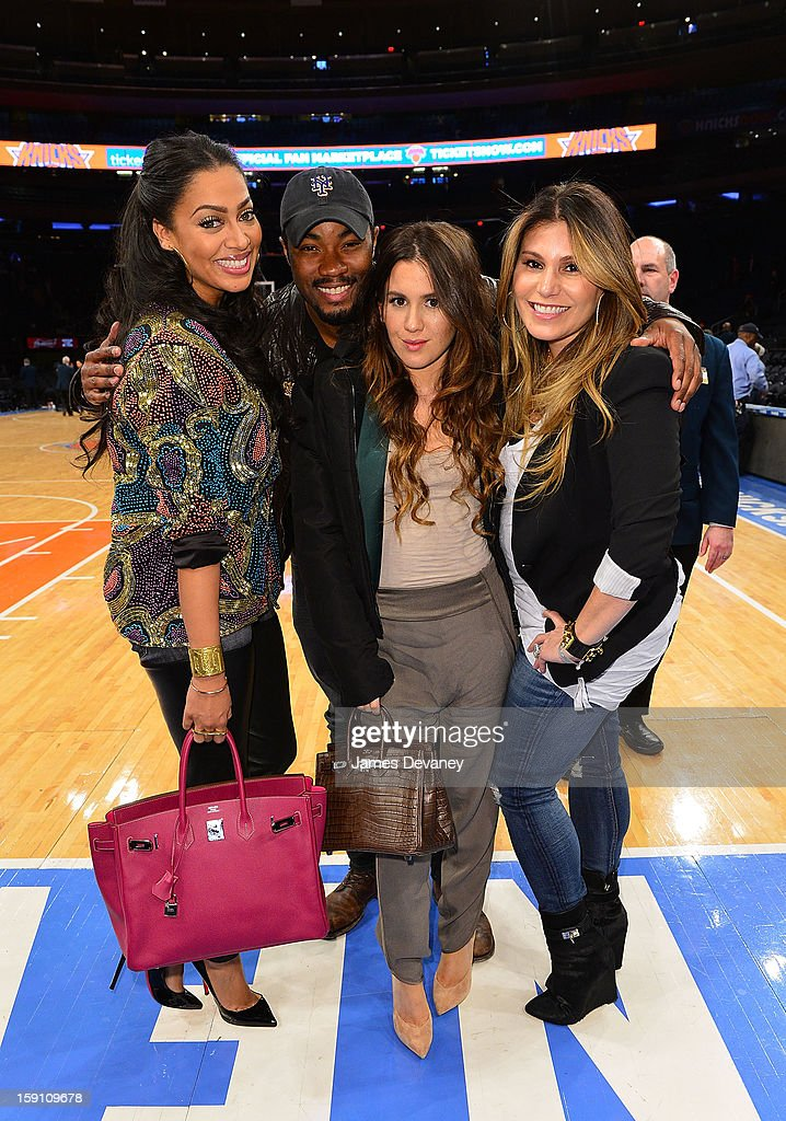 La La Anthony and guests attend the Boston Celtics vs New York Knicks game at Madison Square Garden on January 7, 2013 in New York City.