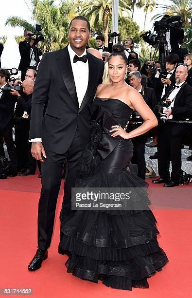 La La Anthony and her husband Carmelo Anthony attend the 'Loving' premiere during the 69th annual Cannes Film Festival at the Palais des Festivals on...