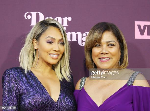 La La Anthony and her mom Carmen Surillo arrive to VH1's 3rd Annual Dear Mama A Love Letter To Moms held at The Theatre at Ace Hotel on May 3 2018 in...