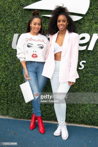 La La Anthony and Kelly Rowland at Day 13 of the US Open held at the USTA Tennis Center on September 8, 2018 in New York City.