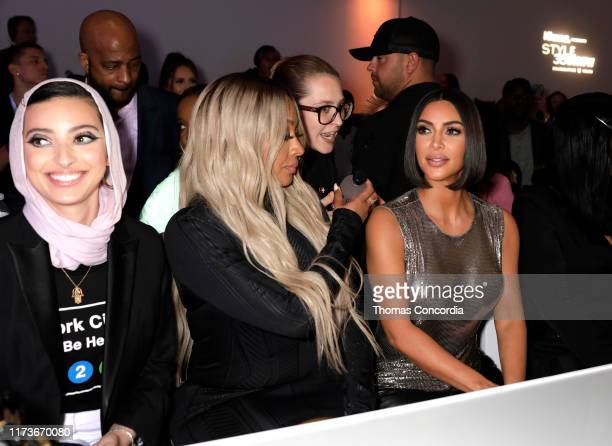 La La Anthony and Kim Kardashian attend S by Serena Williams Runway Show Sponsored By Klarna USA on September 10 2019 in New York City