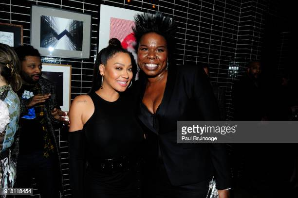 La La Anthony and Leslie Jones attend The Cinema Society with Ravage Wines Synchrony host the after party for Marvel Studios' 'Black Panther' at The...