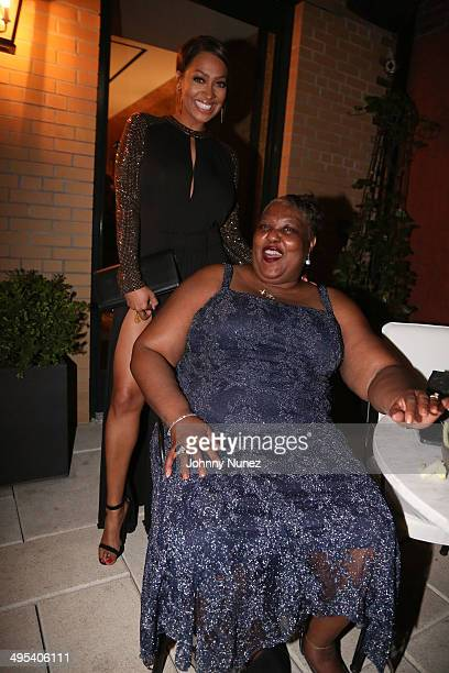 La La Anthony and Mary Anthony attend Carmelo Anthony's '30 for 30' Birthday Dinner at The NoMad Hotel on June 2 2014 in New York City