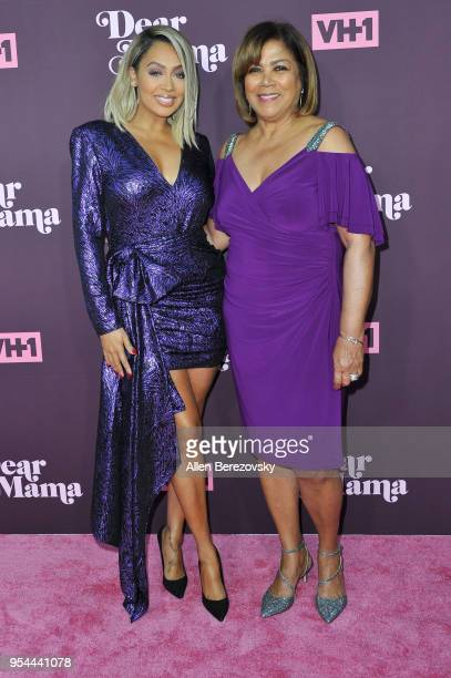 La La Anthony and mom Carmen Surillo attend VH1's 3rd Annual Dear Mama A Love Letter To Moms at The Theatre at Ace Hotel on May 3 2018 in Los Angeles...