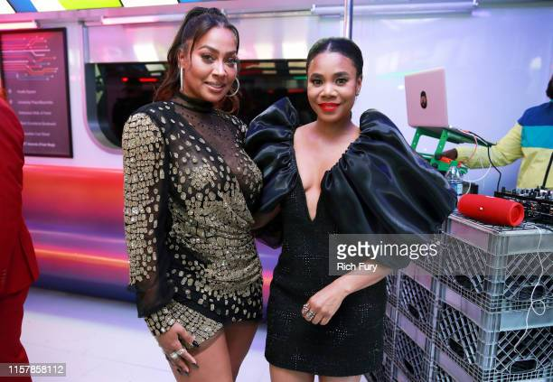 La La Anthony and Regina Hall attend the InstaCarpet during the BET Awards 2019 at Microsoft Theater on June 23 2019 in Los Angeles California