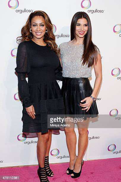 La La Anthony and Roselyn Sanchez attend the Nueva Latina campaign launch at Helen Mills Event Space on February 26 2014 in New York City