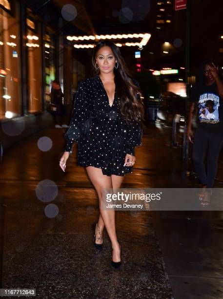 La La Anthony arrives at L'Avenue at Saks on September 12 2019 in New York City