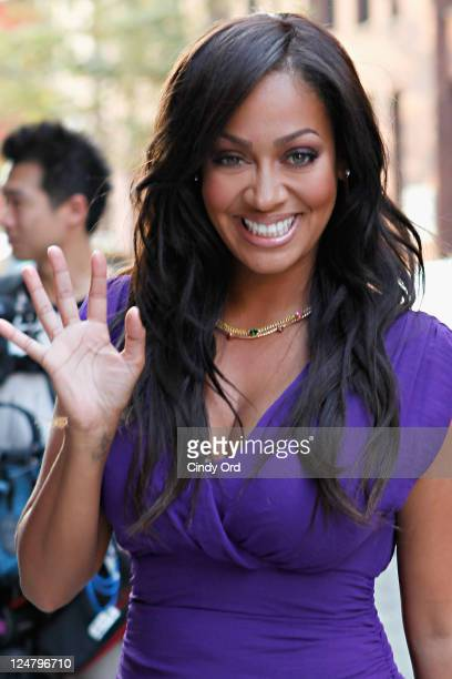 La La Anthony arrives at the Alice Olivia Spring 2012 presentation during Mercedes Benz Fashion Week at Highline Stages on September 12 2011 in New...