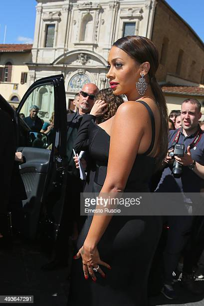 La La Anthony attend the Wedding Of Kim Kardashian And Kanye West In Florence at Excelsior Hotel on May 24 2014 in Florence Italy