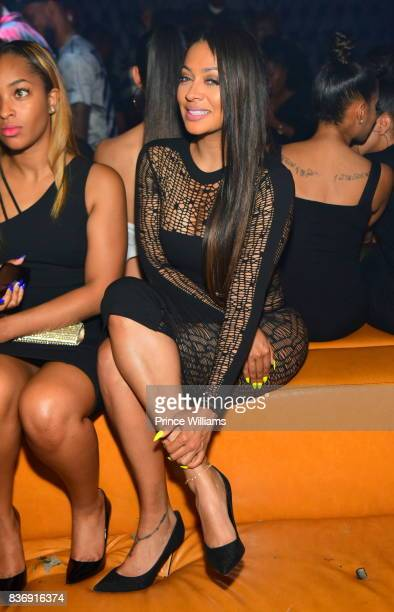 La La Anthony attends a party at Amora Lounge on August 20 2017 in Atlanta Georgia