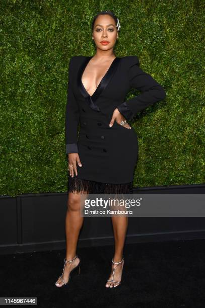 La La Anthony attends as CHANEL hosts 14th Annual Tribeca Film Festival Artists Dinner at Balthazar on April 29, 2019 in New York City.