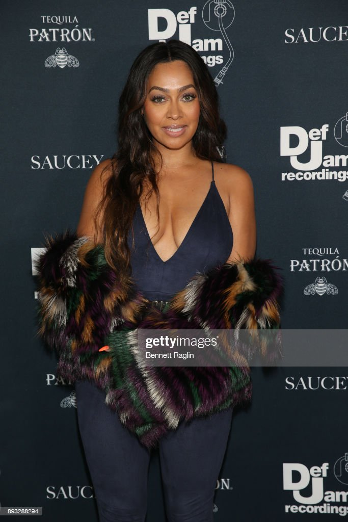 La La Anthony attends as Def Jam Recordings Celebrates the Holidays with Patron Tequila at Spring Place on December 14, 2017 in New York City.