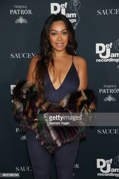 La La Anthony attends as Def Jam Recordings Celebrates the Holidays with Patron Tequila at Spring Place on December 14 2017 in New York City
