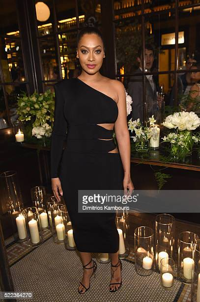 La La Anthony attends CHANEL Tribeca Film Festival Artists Dinner Arrivals on April 18 2016 in New York City