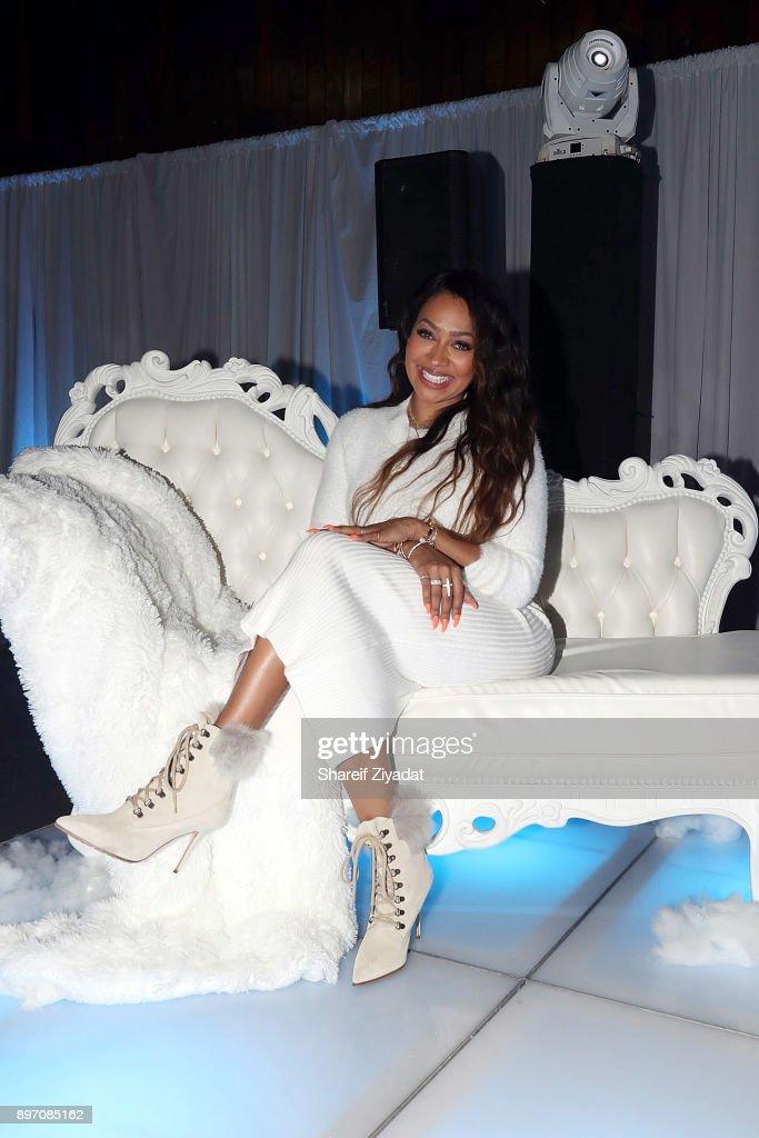 La La Anthony attends La La Anthony Hosts 'Winter Wonderland' Holiday Charity Event on December 21, 2017 in New York City.