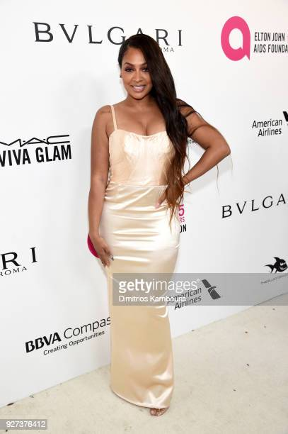 La La Anthony attends the 26th annual Elton John AIDS Foundation Academy Awards Viewing Party sponsored by Bulgari celebrating EJAF and the 90th...