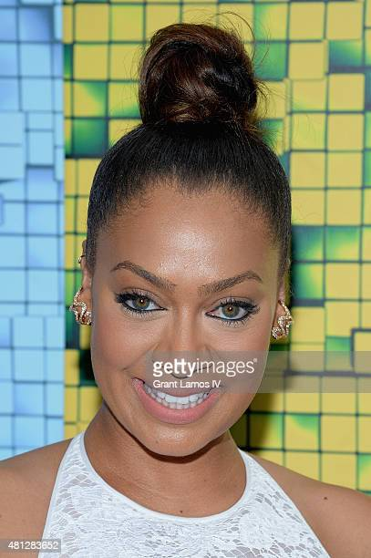 La La Anthony attends the Pixels New York Premiere at Regal EWalk on July 18 2015 in New York City