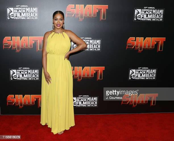 La La Anthony attends the premiere of Shaft during the 23rd Annual American Black Film Festival on June 12, 2019 in Miami, Florida.