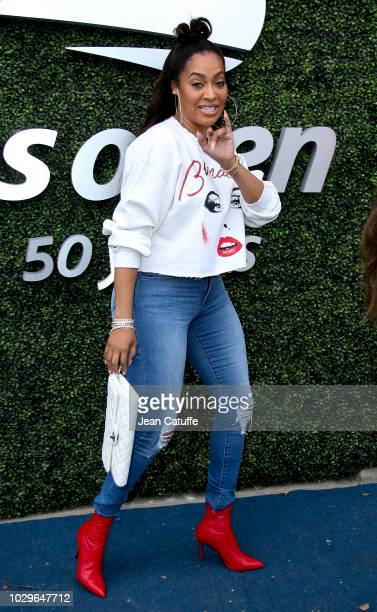 La La Anthony attends the women's final on day 13 of the 2018 tennis US Open on Arthur Ashe stadium at the USTA Billie Jean King National Tennis...