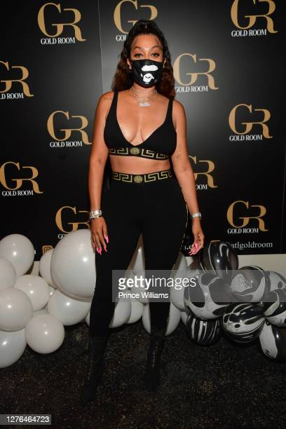 La La Anthony attends T.O. Green Signing Party at Gold Room on September 23, 2020 in Atlanta, Georgia.