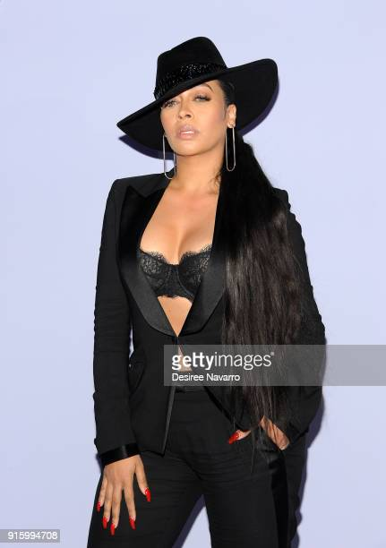 La La Anthony attends Tom Ford Women's Fall/Winter 2018 fashion show during New York Fashion at Park Avenue Armory on February 8 2018 in New York City