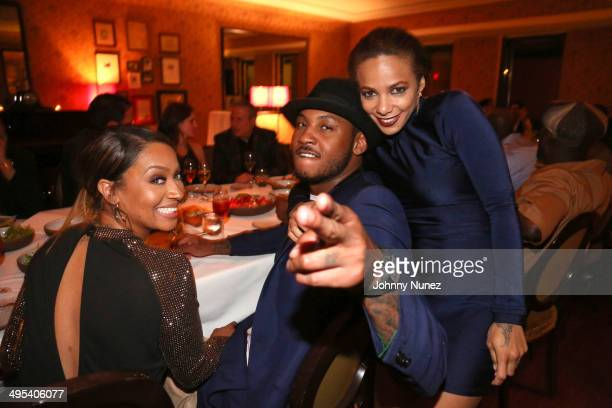 La La Anthony Carmelo Anthony and Po Johnson attend Carmelo Anthony's '30 for 30' Birthday Dinner at The NoMad Hotel on June 2 2014 in New York City