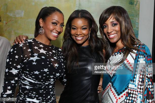 La La Anthony Gabrielle Union and Shaun Robinson at La La's Full Court Life Premiere Party held at The Mark on August 18 2011 in Los Angeles...