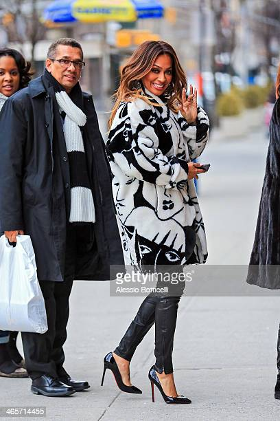 La La Anthony is seen in TriBeCa on January 28 2014 in New York City