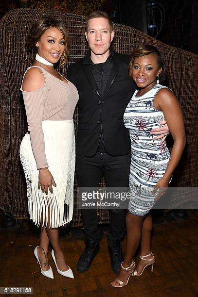 La La Anthony Joseph Sikora and Naturi Naughton attend the New York premiere of The Girlfriend Experience at The Paris Theatre on March 30 2016 in...