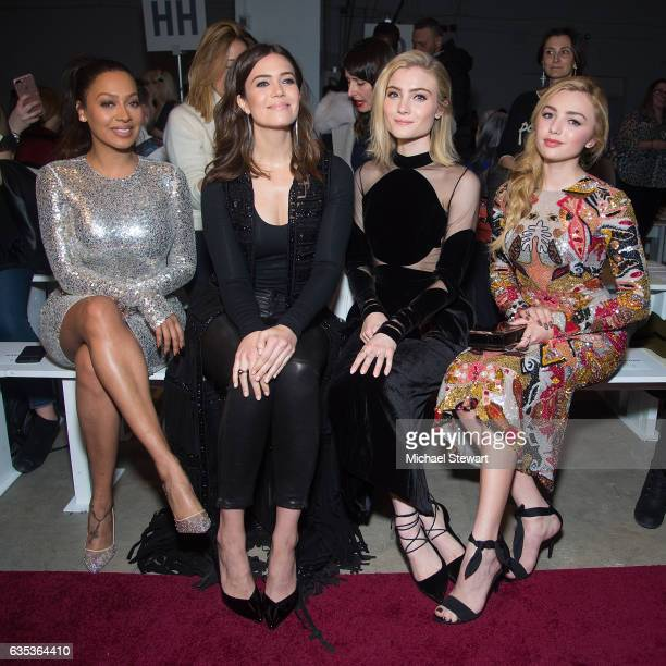 La La Anthony Mandy Moore Skylar Samuels and Peyton List attend the Naeem Khan fashion show during February 2017 New York Fashion Week at Gallery 2...