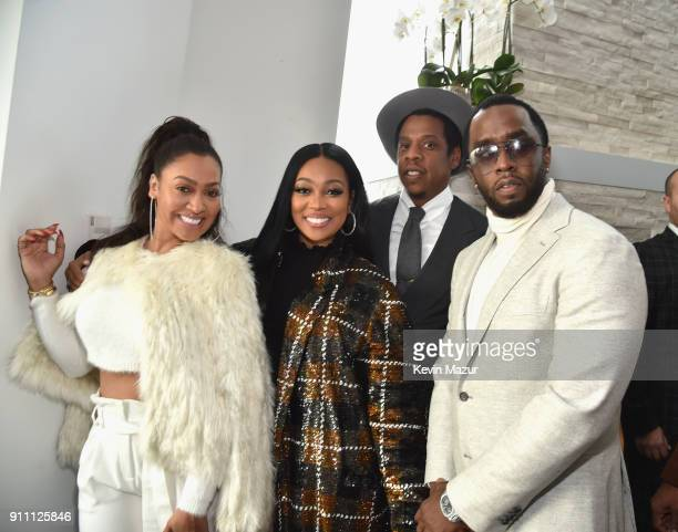 La La Anthony Monica JayZ and Sean 'Diddy' Combs attend Roc Nation THE BRUNCH at One World Observatory on January 27 2018 in New York City